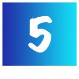 L'image du cinq indique la date du prochain dépôt du crédit pour solidarité