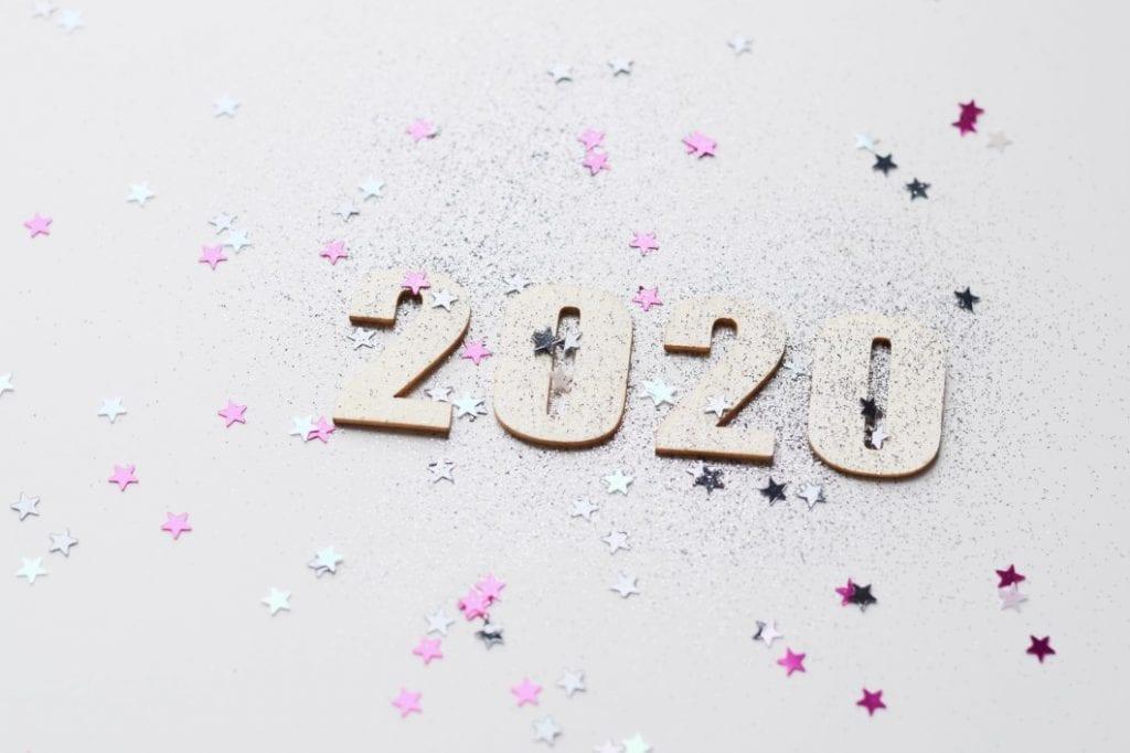 L'image représente la nouvelle année 2020