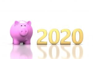 L'image présente le concept d'épargne pour une retraite en 2020