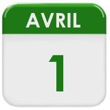 L'image représente une date de calendrier affichant le 1er avril